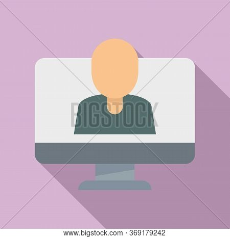 Online Live Lesson Icon. Flat Illustration Of Online Live Lesson Vector Icon For Web Design