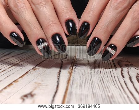 Fashion Manicure Of Nails On A Beautiful Background