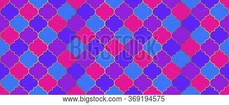 Seamless Moroccan Texture Turkish Mosque Window Motif. Ramadan Traditional Mosque Golden Shape. Eid