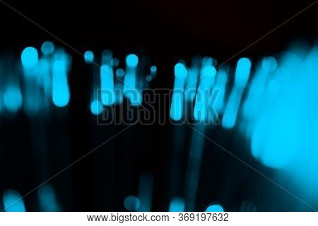 Abstract Background With Classic Blue Lights. It Can Be Used As Overlay.