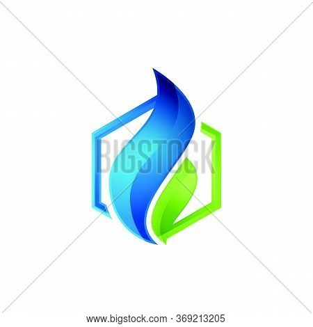 Fire Flame Logo Template Vector Icon Oil, Gas And Energy Logo Concept, Oil Logo For The Oil Industry