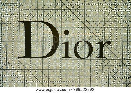 BANGKOK, THAILAND - CIRCA JANUARY, 2020: close up shot of Dior sign seen in Suvarnabhumi Airport.