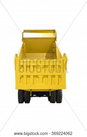 A Dump Truck, A Dumper Truck, Tipper Truck, Is Used For Taking Dumps Sand For Construction ; Isolate