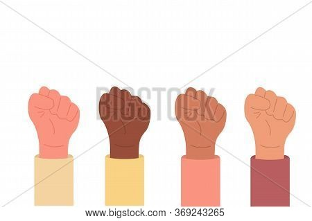 Holding Hands In Protest. Black Lives Matter. Equality For Races. Human Rights. Rebel, Environment M