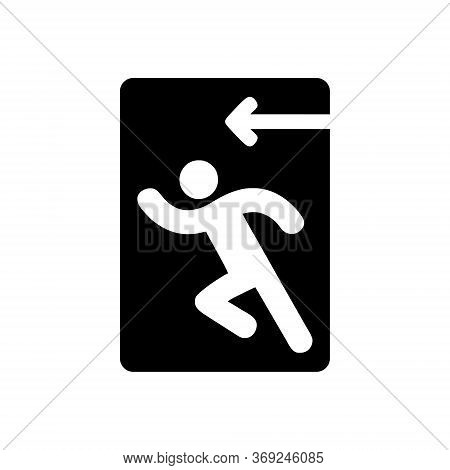 Exit Sign. Emergency Exit. Simple Design, Exit Sign For Business, Eps 8