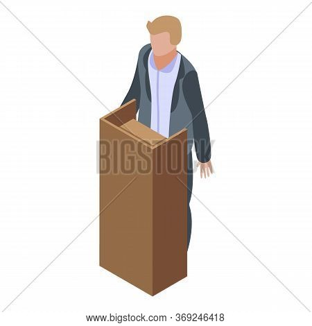 Witness Man Icon. Isometric Of Witness Man Vector Icon For Web Design Isolated On White Background