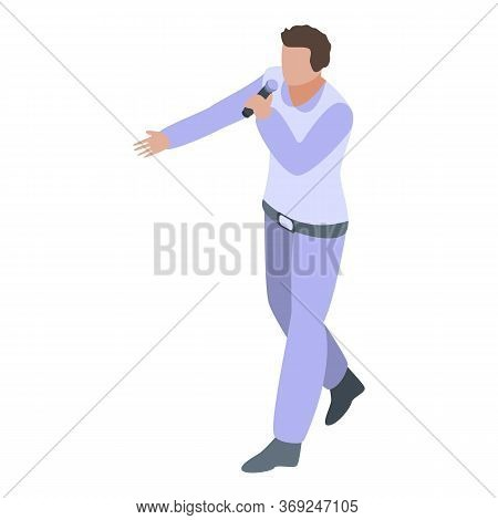 Concert Singer Icon. Isometric Of Concert Singer Vector Icon For Web Design Isolated On White Backgr