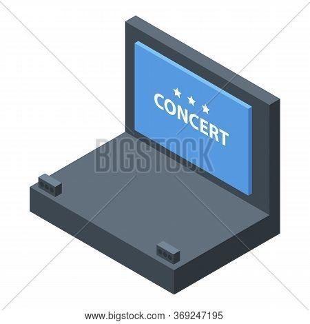 Concert Scene Icon. Isometric Of Concert Scene Vector Icon For Web Design Isolated On White Backgrou