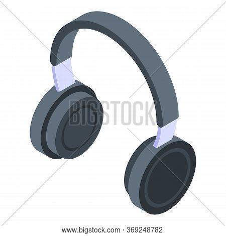 Dj Headphones Icon. Isometric Of Dj Headphones Vector Icon For Web Design Isolated On White Backgrou