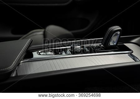 Automatic Gearbox Modes Shifter Lever And Dashboard.