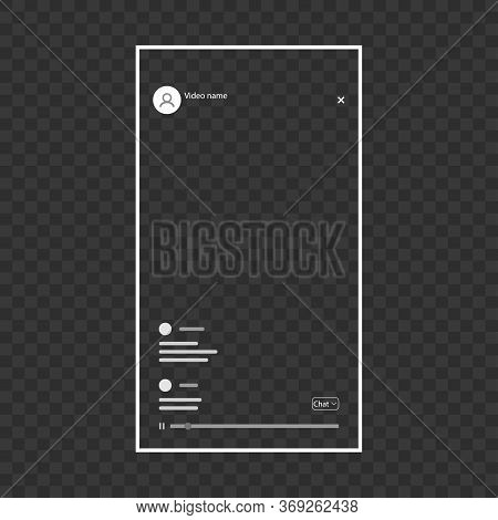 Screenshot Of The Meeting Screen On Social Networks, With Chat, Buttons, On A White Background. For