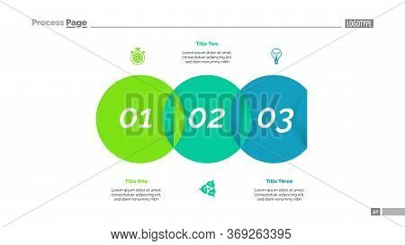 Venn Diagram With Three Elements. Step Chart, Process Diagram, Slide. Creative Concept For Infograph