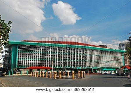 Manila, Ph - Feb 16 - Bureau Of Immigration Building Facade At Intramuros On February 16, 2013 In Ma