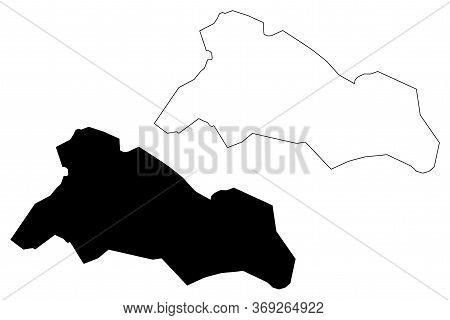Tabriz City (islamic Republic Of Iran, Persia, East Azerbaijan Province) Map Vector Illustration, Sc