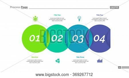 Venn Diagram With Four Elements. Step Chart, Process Diagram, Slide. Creative Concept For Infographi