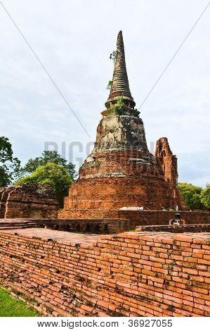 The Pagoda  In Ayutthaya