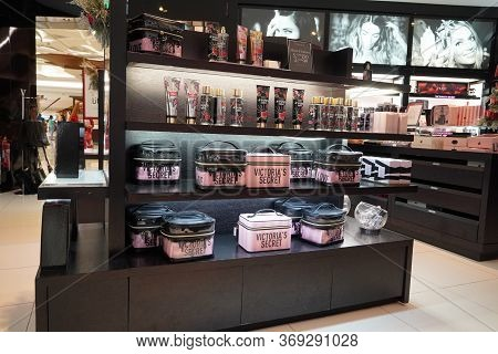 Interior Of Victoria S Secret Store. Victoria Secret Is The Largest American Retailer Of Women's Lin