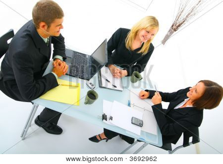 Businessteam Discussing In Meeting