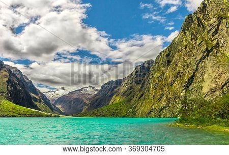 Lake Chinancocha In The Andes Mountains Of Peru