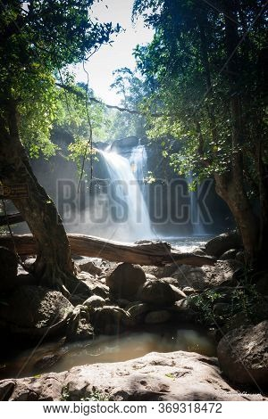 Haew Suwat Waterfall At Khao Yai National Park Images For Commercial User.