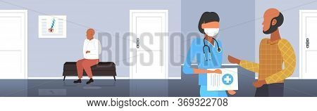 Aesthetics Doctor Consulting Balded Man Patient Medical Consultation Baldness Problem Healthcare Con