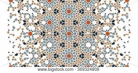 Islamic, Arabic Seamless Vector Pattern, Texture, Background . Geometric Halftone Arabic Texture Wit