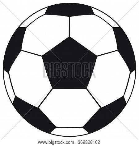 Football, Soccer Ball Isolated On White Background. Soccer Football Ball Icon For Your Business Proj