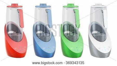 Hydrogen Rich Water Machines, 3d Rendering Isolated On White Background