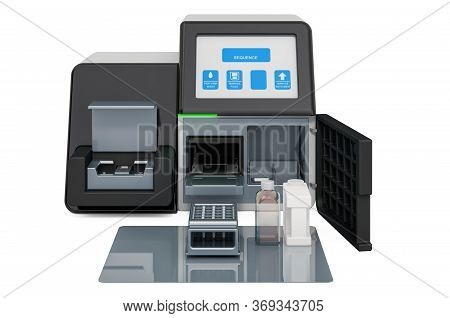 Personal Dna Sequencing System, 3d Rendering Isolated On White Background