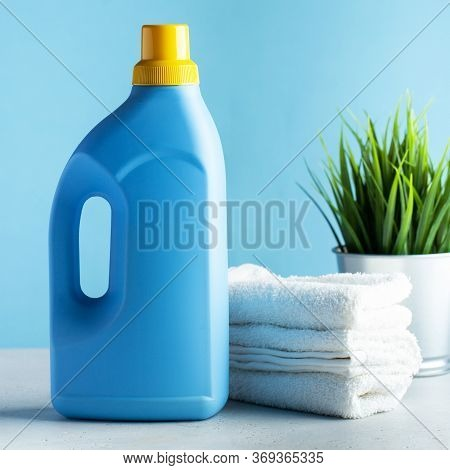 Laundry Detergent, Washing Powder, Laundry Gel. Concept Of General Cleaning, Laundry, Household Chem