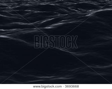 Dark Ocean Surface Waves In Night Sight