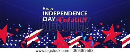 Fourth Of July. 4th Of July Holiday Banner. Usa Independence Day Background For Sale, Discount, Adve