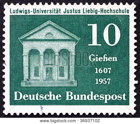 Postage stamp Germany 1957 Liebig Laboratory