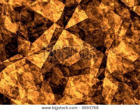 Black And Orange Fracted Alien Fantasy Texture