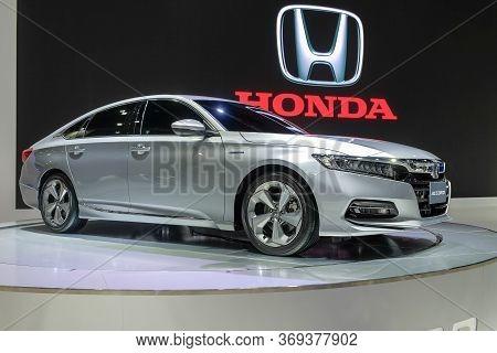Nonthaburi-thailand 28 Nov 2018: All-new Honda Accord Show On Display At The 35th Thailand Internati