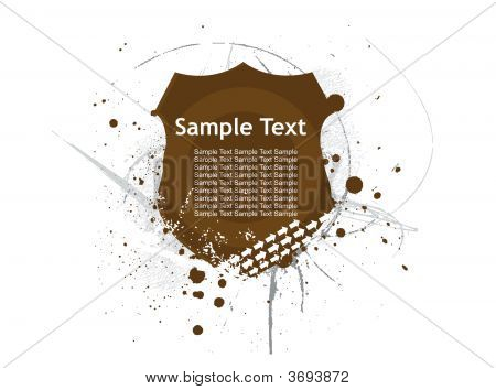 Abstract decoration label Background with sample text. vector illustration poster