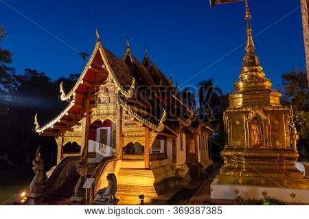 Wat Phra Singh Temple ,construction Of Wat Phra Singh, B.e. Year 1345, When King Payu, The Fifth Kin