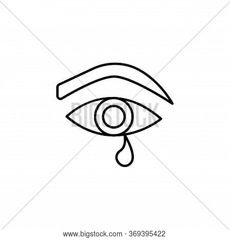 Eye, Tear, Sexual Abuse Line Icon. Signs And Symbols Can Be Used For Web, Logo, Mobile App, Ui, Ux