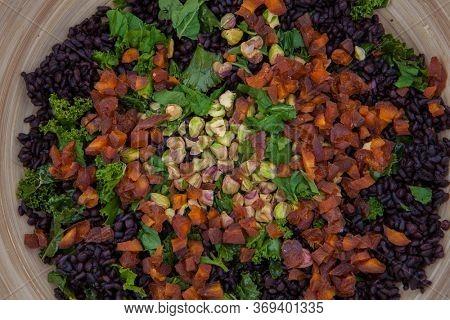 healthy seeds fruit and nut vegetarian vegan salad