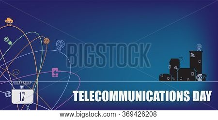 Post Card For Event May Day World Telecommunications Day