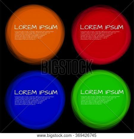 Set Of Colorful Circles With Overlapping. Creative Logo. Template For Your Text. Vector Illustration