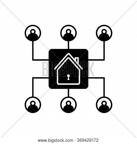 Black Solid Icon For Storage Organization  Inventory Collegues  Real-estate Home