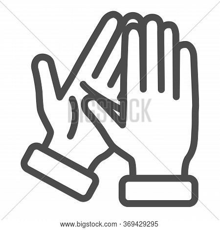 Applause Line Icon, Gestures Concept, Bravo Sign On White Background, Hands Clapping Symbol In Outli