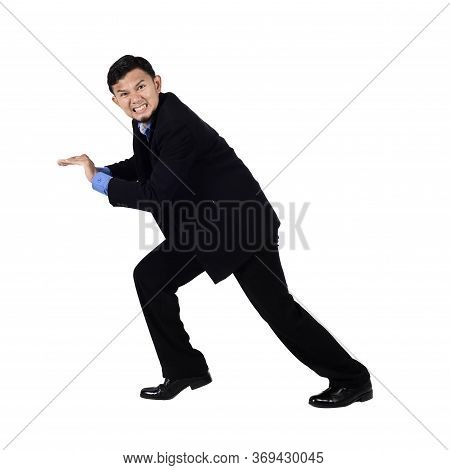 Thai Businessman Over White