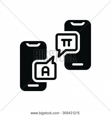 Black Solid Icon For Interpret Decode Exhort  Translation