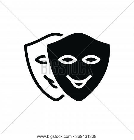 Black Solid Icon For Cosplay Roleplay Playact Pretend Dissemble