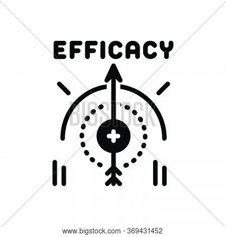 Black Solid Icon For Efficacy Impact Influence Impression Compass Management