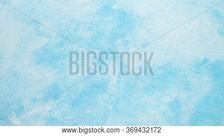 Watercolor Background, Blue Watercolour Painting Textured Design On White Paper Background, Art Abst
