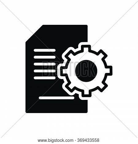 Black Solid Icon For Contents-management Contents Management Document Cms Database Website Technolog