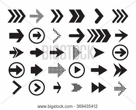Arrows Big Black Set Icons. Arrow Icon. Arrow Vector Collection. Arrow. Cursor. Black Icon Set Of Ar